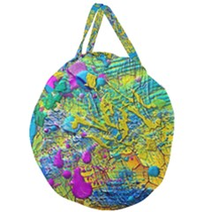 Background Art Abstract Watercolor Giant Round Zipper Tote