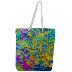 Background Art Abstract Watercolor Full Print Rope Handle Tote (large)