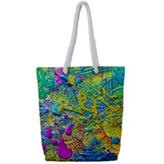 Background Art Abstract Watercolor Full Print Rope Handle Tote (small) by Nexatart