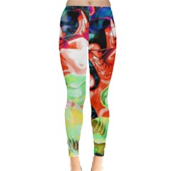 Background Art Abstract Watercolor Leggings  by Nexatart