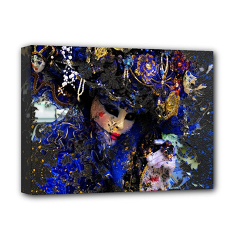Mask Carnaval Woman Art Abstract Deluxe Canvas 16  X 12   by Nexatart