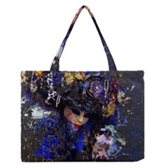 Mask Carnaval Woman Art Abstract Zipper Medium Tote Bag by Nexatart