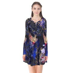 Mask Carnaval Woman Art Abstract Flare Dress