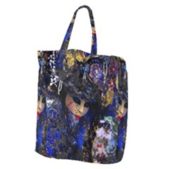 Mask Carnaval Woman Art Abstract Giant Grocery Zipper Tote