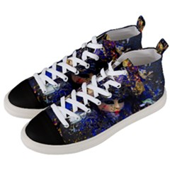 Mask Carnaval Woman Art Abstract Men s Mid Top Canvas Sneakers by Nexatart