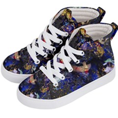 Mask Carnaval Woman Art Abstract Kid s Hi-top Skate Sneakers by Nexatart