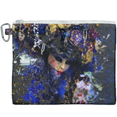 Mask Carnaval Woman Art Abstract Canvas Cosmetic Bag (xxxl) by Nexatart