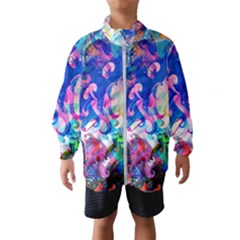 Background Art Abstract Watercolor Wind Breaker (kids) by Nexatart