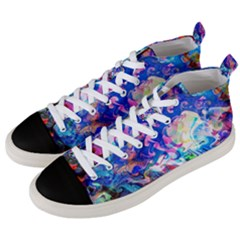 Background Art Abstract Watercolor Men s Mid Top Canvas Sneakers by Nexatart