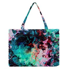 Background Art Abstract Watercolor Zipper Medium Tote Bag by Nexatart