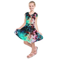 Background Art Abstract Watercolor Kids  Short Sleeve Dress
