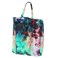 Background Art Abstract Watercolor Giant Grocery Zipper Tote
