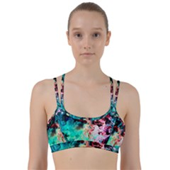 Background Art Abstract Watercolor Line Them Up Sports Bra