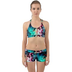 Background Art Abstract Watercolor Back Web Sports Bra Set by Nexatart