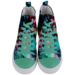 Background Art Abstract Watercolor Women s Mid Top Canvas Sneakers