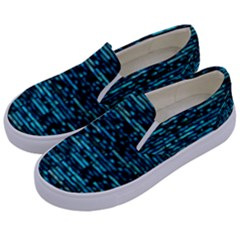 Wall Metal Steel Reflexions Kids  Canvas Slip Ons by Nexatart