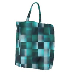 Background Squares Metal Green Giant Grocery Zipper Tote