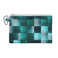 Background Squares Metal Green Canvas Cosmetic Bag (large) by Nexatart