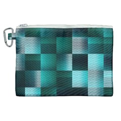Background Squares Metal Green Canvas Cosmetic Bag (xl) by Nexatart