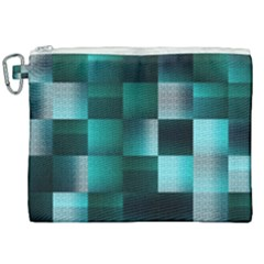 Background Squares Metal Green Canvas Cosmetic Bag (xxl) by Nexatart