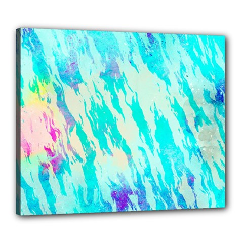 Blue Background Art Abstract Watercolor Canvas 24  X 20