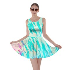 Blue Background Art Abstract Watercolor Skater Dress by Nexatart