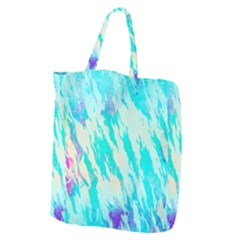 Blue Background Art Abstract Watercolor Giant Grocery Zipper Tote