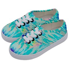 Blue Background Art Abstract Watercolor Kids  Classic Low Top Sneakers by Nexatart