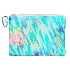 Blue Background Art Abstract Watercolor Canvas Cosmetic Bag (xl) by Nexatart