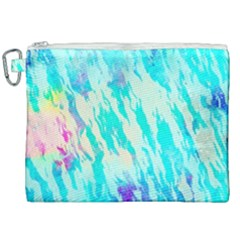 Blue Background Art Abstract Watercolor Canvas Cosmetic Bag (xxl) by Nexatart