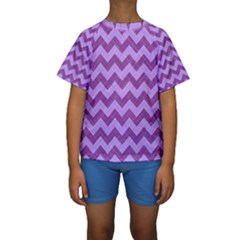 Background Fabric Violet Kids  Short Sleeve Swimwear