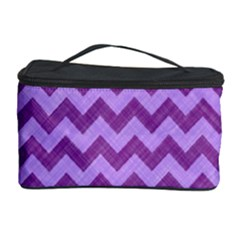 Background Fabric Violet Cosmetic Storage Case by Nexatart