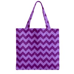 Background Fabric Violet Zipper Grocery Tote Bag by Nexatart