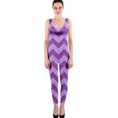 Background Fabric Violet One Piece Catsuit
