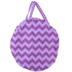 Background Fabric Violet Giant Round Zipper Tote