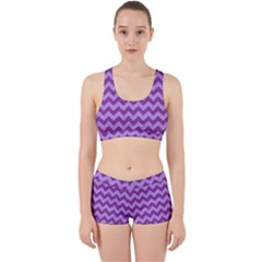 Background Fabric Violet Work It Out Sports Bra Set