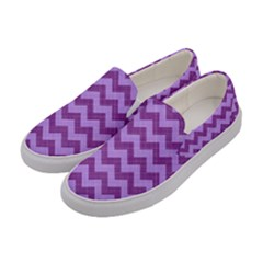 Background Fabric Violet Women s Canvas Slip Ons by Nexatart