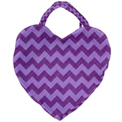 Background Fabric Violet Giant Heart Shaped Tote by Nexatart