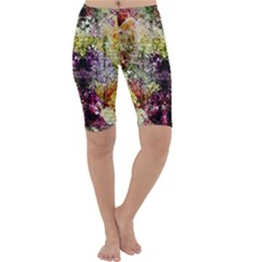 Background Art Abstract Watercolor Cropped Leggings  by Nexatart
