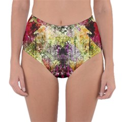 Background Art Abstract Watercolor Reversible High Waist Bikini Bottoms