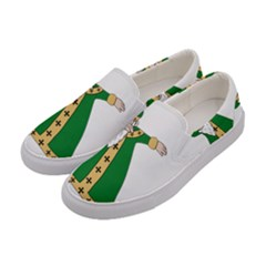 St  Patrick  Dabbing Women s Canvas Slip Ons by Valentinaart