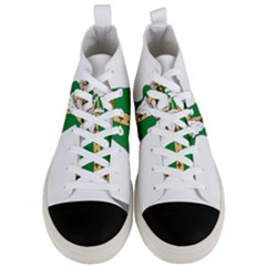 St  Patrick  Dabbing Men s Mid Top Canvas Sneakers