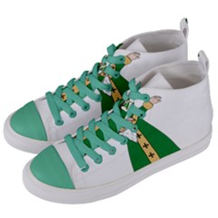 St  Patrick  Dabbing Women s Mid Top Canvas Sneakers by Valentinaart
