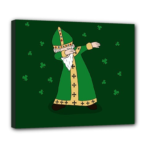 St  Patrick  Dabbing Deluxe Canvas 24  X 20   by Valentinaart