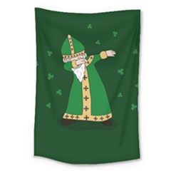 St  Patrick  Dabbing Large Tapestry by Valentinaart