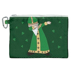 St  Patrick  Dabbing Canvas Cosmetic Bag (xl) by Valentinaart