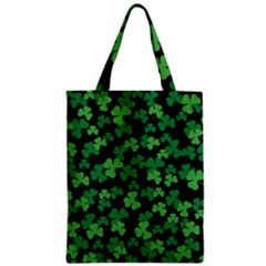 St  Patricks Day Clover Pattern Zipper Classic Tote Bag by Valentinaart