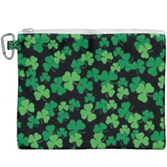 St  Patricks Day Clover Pattern Canvas Cosmetic Bag (xxxl) by Valentinaart