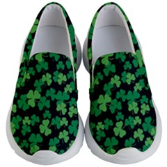 St  Patricks Day Clover Pattern Kid s Lightweight Slip Ons by Valentinaart