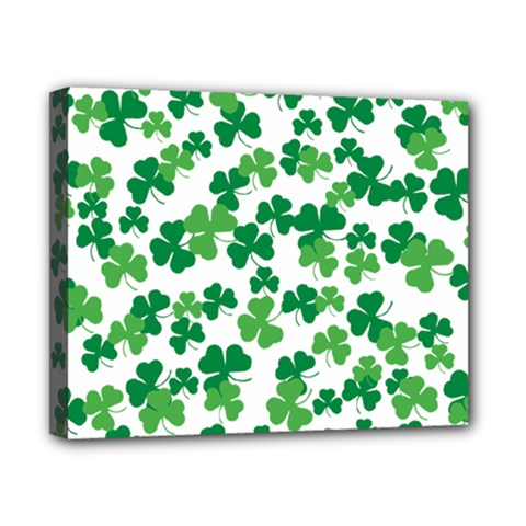 St  Patricks Day Clover Pattern Canvas 10  X 8